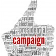 Stock Photo: Campaign for president concept