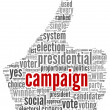 Campaign for president concept — Stock Photo