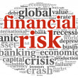 Financial risk concept on white - Stock Photo