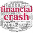 Financial crash concept on white - Stock Photo