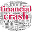 Financial crash concept on white — Stock Photo