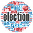 Election concept in word cloud — Stock Photo #14508943