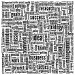 Idea and business in word tag cloud — Stock fotografie
