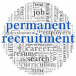 Permanent recruitment concept in word tag cloud - Stock Photo