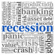 Recession concept on white - Stock Photo