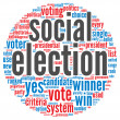 Social election concept - Stock Photo