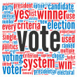 Vote in presidential elections concept - Stock Photo
