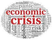 Economic crisis concept on white — Stock Photo