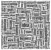 Idea and business in word tag cloud — Stock Photo