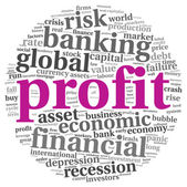 Profit and risk concept on white — Stock Photo