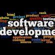 Software development concept in tag cloud — Stock Photo #14856349