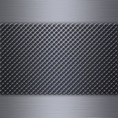 Steel mesh over brushed aluminum — Stock Photo