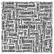 Leadership in word tag cloud on white - Stockfoto