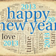 Royalty-Free Stock Photo: Happy New Year 2013 in tag cloud