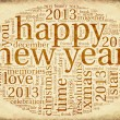 Happy New Year 2013 in tag cloud — Stock Photo #15819465
