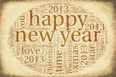 Bonne année 2013 dans le nuage de tags — Photo