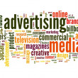 Advertising word in tag cloud — Stock Photo #16287939