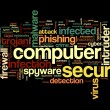 Stock Photo: Computer security concept in tag cloud