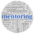 Mentoring concept in tag cloud — Stock Photo
