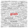 Goals concept in word tag cloud — Stock Photo #16288049