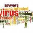 Spyware concept in tag cloud — Stock Photo