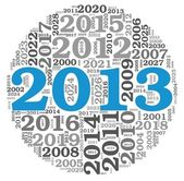 New year 2013 concept in number tag cloud — Stock Photo