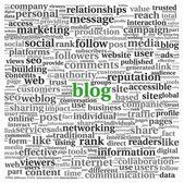 Blog kavramı kelime etiket bulutu — Stok fotoğraf