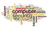 Computer security concept in tag cloud — Stock Photo