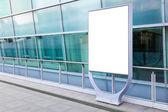 Blank billboard in city — Stock Photo