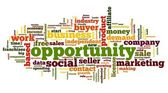 Opportunity concept in word tag cloud — Stock Photo