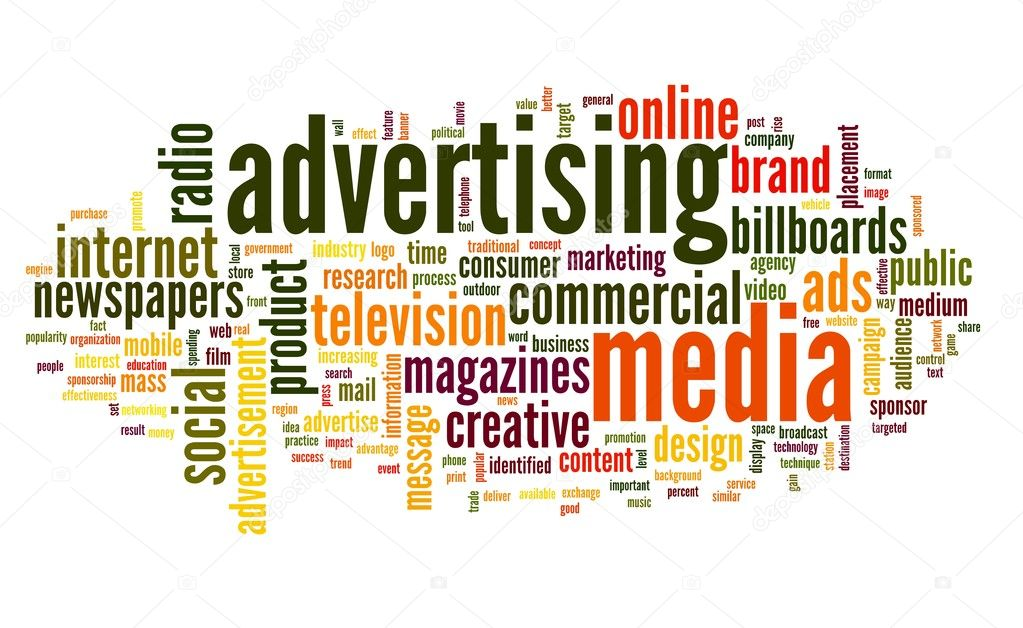 Advertising word in tag cloud stock photo olechowski for Advertising companies uk