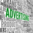Advertising concept in word tag cloud — Stock Photo #17130587