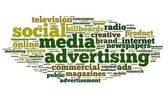 Social Media dvertising concept on tag cloud — Stock Photo
