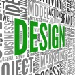 Foto Stock: Design concept in tag cloud