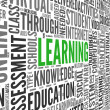 Stockfoto: Learning concept in word tag cloud