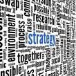 Business strategy concept in word tag cloud — Stock Photo