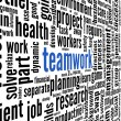Teamwork concept in word tag cloud — Stock fotografie