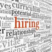Concepto de contratación en tag cloud de palabra — Foto de Stock