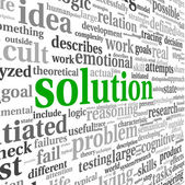 Solution concept in word tag cloud — Stock Photo