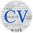 Curriculum vitae concept in word tag cloud — Stock Photo #18926647