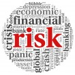 Risk in economy and finance concept on white - Foto Stock