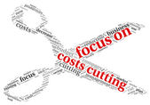 Focus on costs cutting concept — Stock Photo