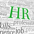 Human resources concept in tag cloud — Stock Photo #19407757