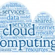 Cloud computing concept in word tag cloud — Stock Photo #19407611