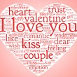 Royalty-Free Stock Photo: I love you and valentine concept