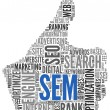 Search engine marketing SEM concept - Stock Photo