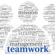 Teamwork concept in word tag cloud — Foto Stock