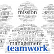 Teamwork concept in word tag cloud — Foto de Stock