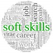 Soft skills concept on white — Stock Photo #19407995