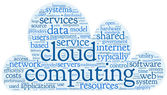 Cloud computing concept in word tag cloud — Stock Photo